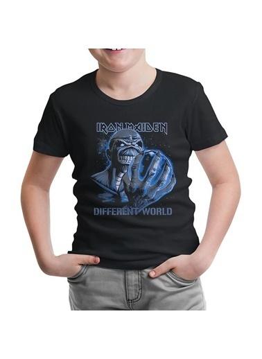 Lord Tshirt Iron Maiden - Different World Siyah Çocuk Tshirt Siyah